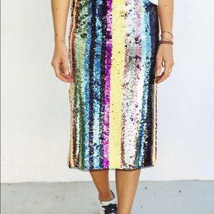 Striped Sequin Skirt 🌈